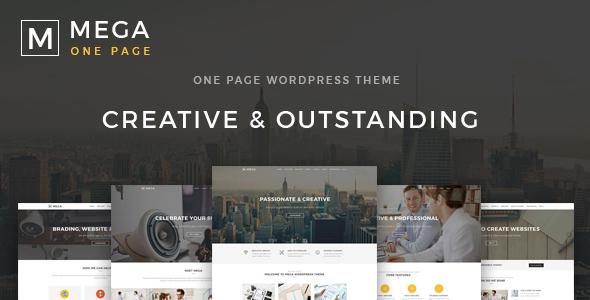 قالب Mega One Page - قالب وردپرس تک صفحه ای خلاق