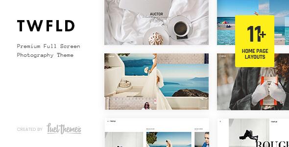 قالب TwoFold - قالب تمام صفحه عکاسی