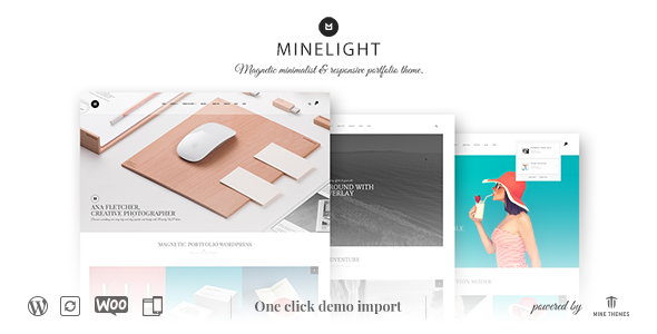 قالب Minelight - قالب وردپرس نمونه کار