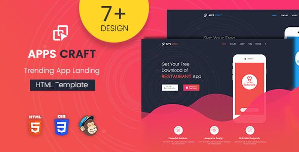 قالب Apps Craft - قالب وردپرس صفحه فرود اپلیکیشن