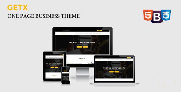 قالب GetX - قالب وردپرس تک صفحه ای کسب و کار