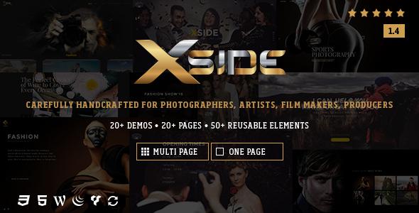 قالب XSide - قالب عکاسی