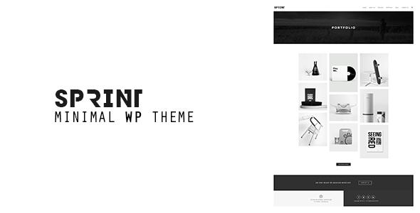 قالب Sprint - قالب نمونه کار مینیمال