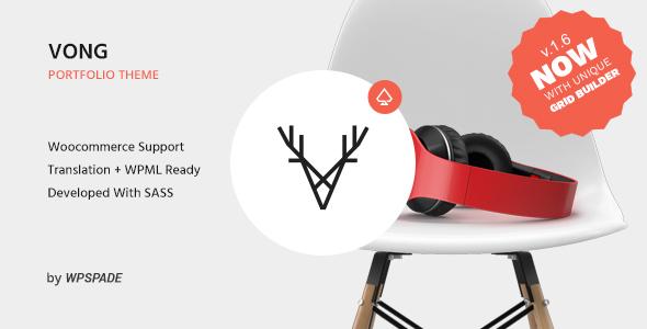 قالب Vong Portfolio - قالب نمونه کار ریسپانسیو وردپرس