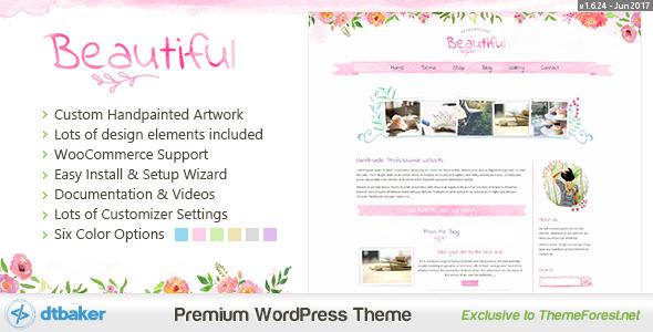 قالب Beautiful Floral Watercolor - وبلاگ و فروشگاه
