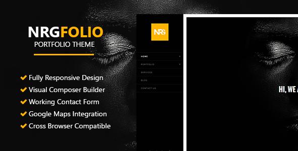 قالب NRGFolio - قالب نمونه کار وردپرس چند منظوره