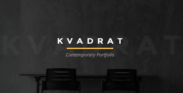 قالب Kvadrat - قالب وردپرس نمونه کار