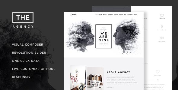 قالب The Agency - قالب وردپرس تک صفحه ای شرکت طراحی