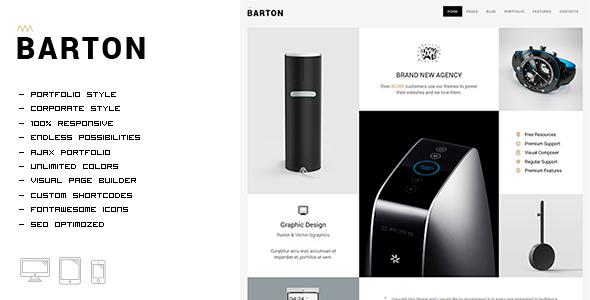 قالب BARTON - قالب وردپرس نمونه کار ساده