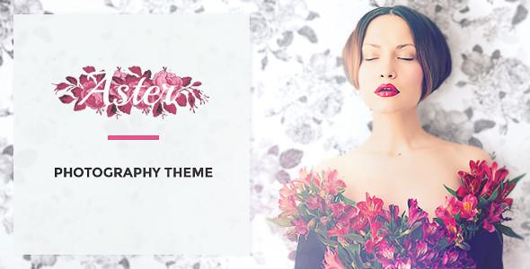 قالب Aster - قالب وردپرس نمونه کارهای عکاسی زنانه