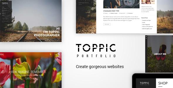 قالب TopPic Photography - قالب وردپرس عکاسی