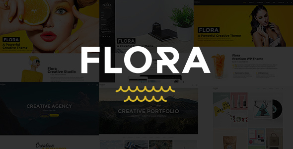 قالب Flora - قالب وردپرس خلاقانه