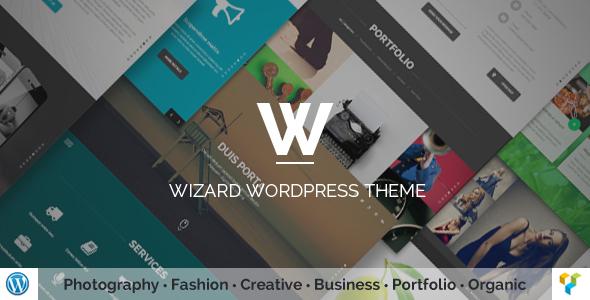 قالب Wizard - قالب وردپرس نمونه کار تمام صفحه