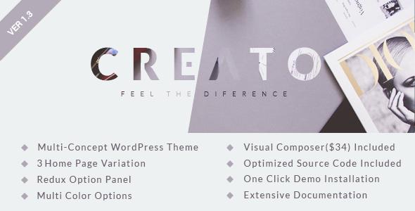 قالب Creato - قالب وردپرس پارالاکس