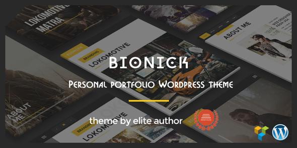 بیونیک   Bionick - قالب وردپرس نمونه کار شخصی