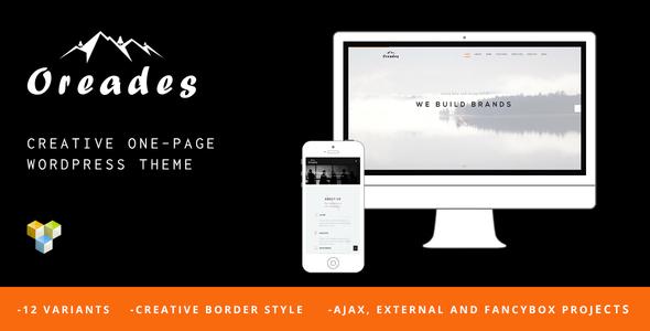 قالب Oreades - قالب وردپرس خلاقانه تک صفحه ای