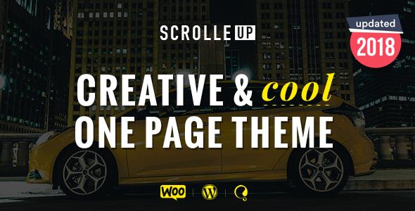 قالب ScrolleUP - قالب وردپرس تک صفحه ای خلاق