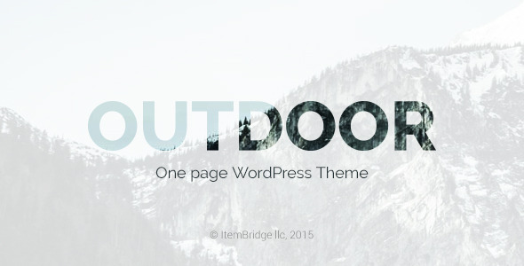 قالب Outdoor - قالب وردپرس تک صفحه ای
