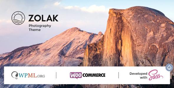 قالب Zolak Portfolio - قالب وردپرس عکاسی