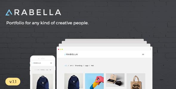قالب Arabella - قالب نمونه کار مینیمال وردپرس