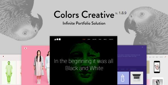قالب Colors Creative - قالب نمونه کار برای فریلنسرها