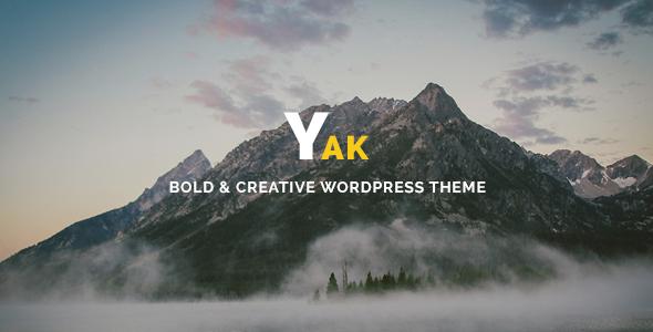 قالب Yak - قالب وردپرس نمونه کار خلاقانه