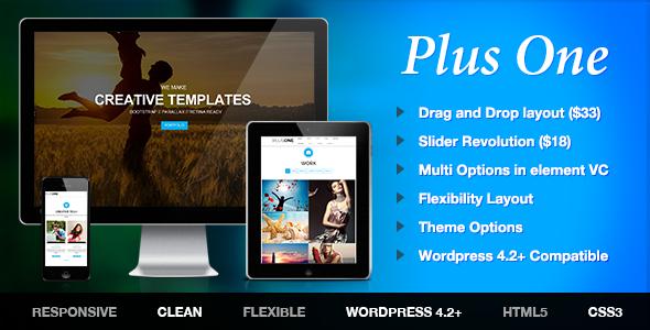 قالب Plus - قالب وردپرس تک صفحه ای بازاریابی
