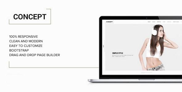 قالب Concept - قالب وردپرس نمونه کار مینیمال