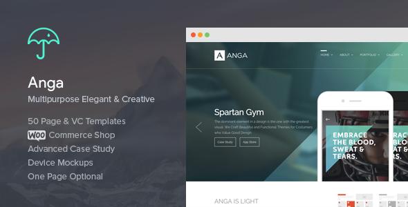 قالب Anga - قالب وردپرس چند منظوره و زیبا
