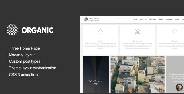 قالب Organic - قالب وردپرس معماری و معماران