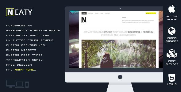 قالب Neaty - قالب نمونه کار ریسپانسیو وردپرس
