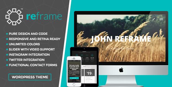 قالب ReFrame - قالب وردپرس عکاسی