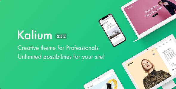 قالب کالیوم | Kalium - قالب خلاق برای حرفه ای ها