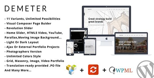 Demeter - قالب وردپرس تک صفحه ای پارالاکس