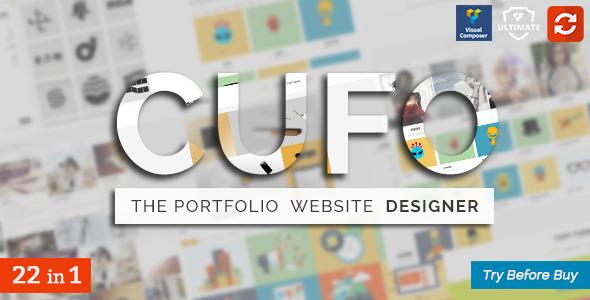 قالب Cufo - قالب نمونه کار وردپرس