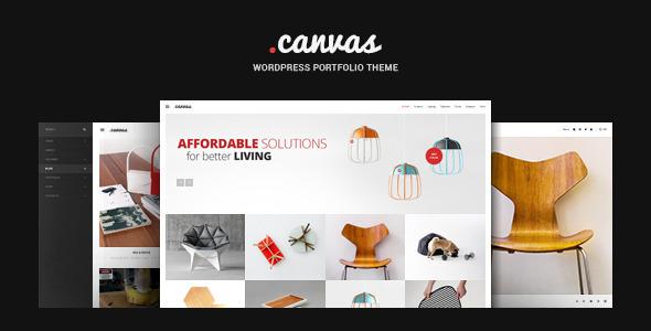 قالب Canvas - قالب وردپرس نمونه کار مبل و دکوراسیون داخلی
