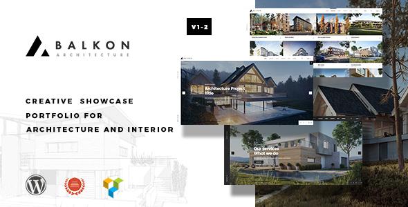 قالب Balkon - قالب وردپرس سایت معماری