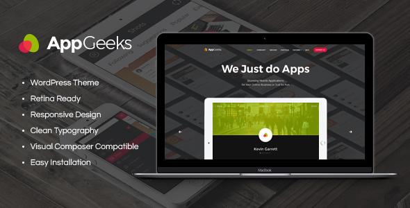 قالب AppGeeks - قالب وردپرس استدیو وب