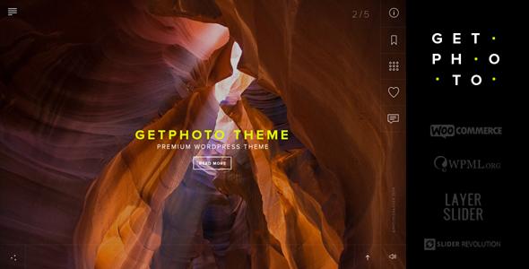 GetPhoto - قالب وردپرس عکاسی و نمونه کار