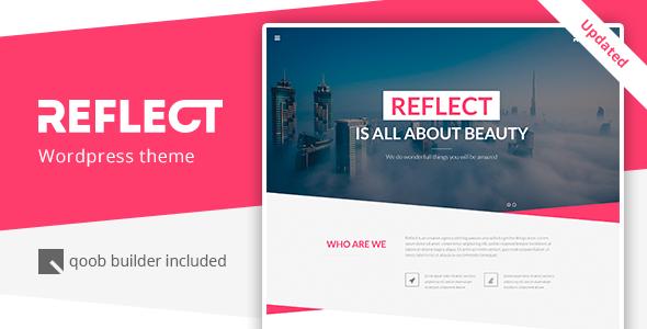 Reflect - قالب وردپرس تک صفحه ای