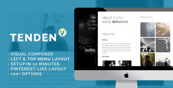 قالب Tenden - قالب سایت نمونه کار ساده