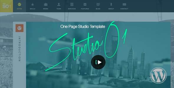 قالب StudioO1 - قالب وردپرس تک صفحه ای چند منظوره
