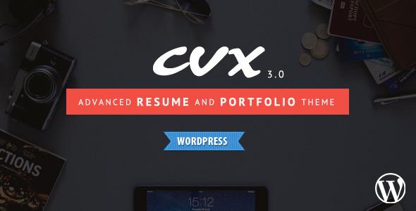 قالب CVX - قالب وردپرس رزومه و نمونه کار