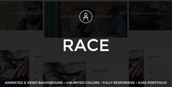 قالب Race - قالب وردپرس تک صفحه ای خلاق
