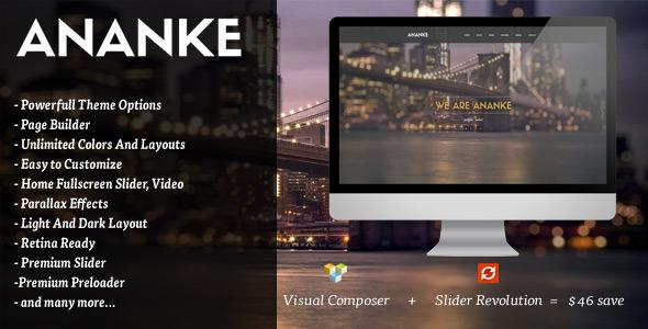 قالب Ananke - قالب وردپرس تک صفحه ای پارالاکس
