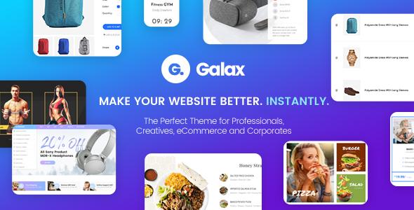 قالب Galax - پوسته وردپرس فروشگاهی چند منظوره خلاقانه