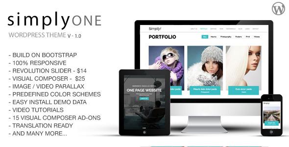 SimplyOne - قالب وردپرس تک صفحه ای