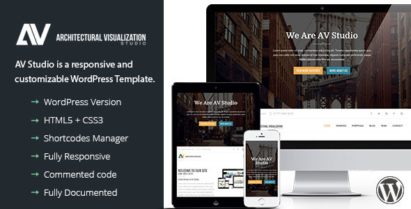 قالب AV Studio - قالب وردپرس تک صفحه ای