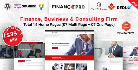 قالب Finance Pro - قالب وردپرس کسب و کار
