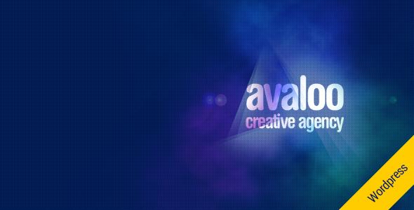 قالب avaloo - قالب وردپرس تک صفحه ی شرکتی